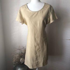 Vintage Gap Linen Tie back Dress Size L